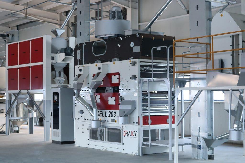 AKY Technology - линия за почистване на орехи